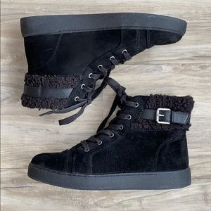 Nine West Pedalo Faux Suede & Fur Ankle Boot | 8.5